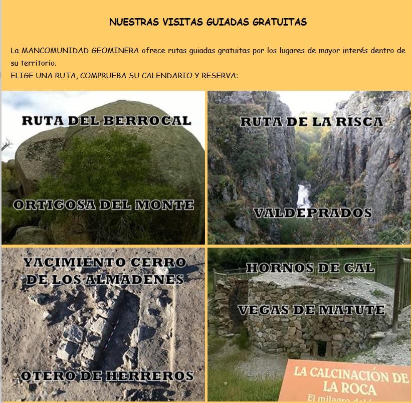 rutas geomineras