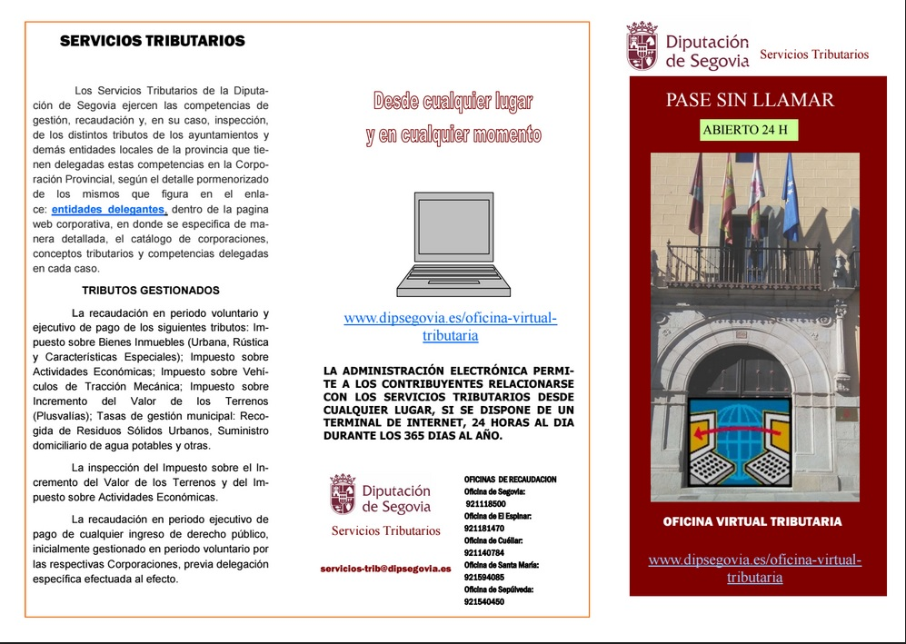 Oficina virtual tributaria diputaci n de segovia for Oficina virtual tributaria